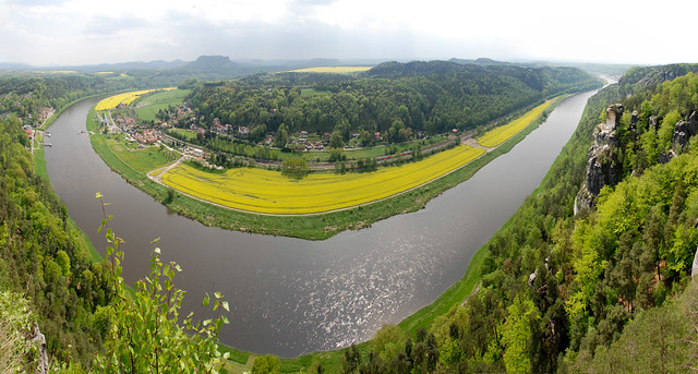 River Elbe bend panorama
