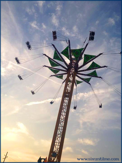 NO WAY did I go on this ride. I stood on the ground and photographed it from the safety of my fear bubble.