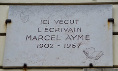 Photo of Marcel Aymé marble plaque