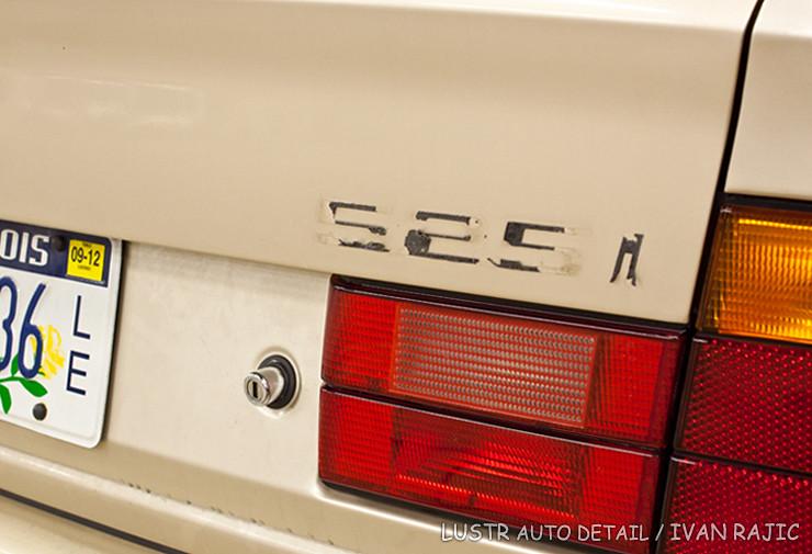 95 BMW 525i badge removed