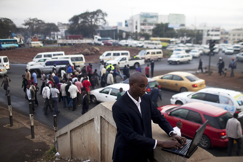 Shadrack Kioko collects traffic data