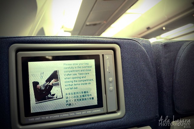 Cathay Pacific aircraft's LCD Screen