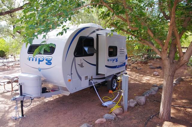 mpg Teardrop Trailer, KOA near Moab, Utah, September 24, 2011