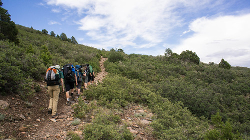 Climbing up to the mesa for Toothache Springs