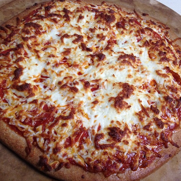 Oh my gosh. I'm so looking forward to eating this homemade pepperoni pizza. Yum!!