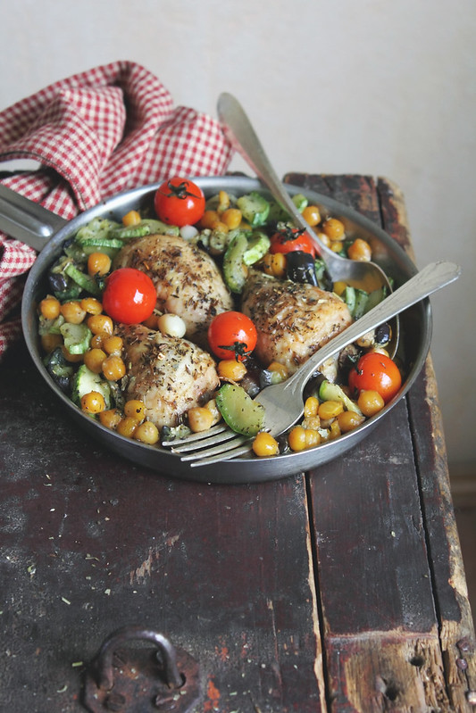 Lemon Chicken with Chickpea and Vegetables