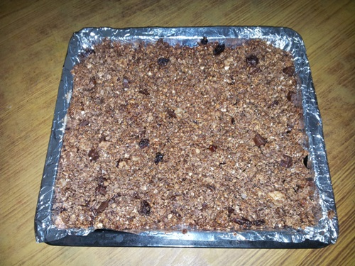 Baked Chewy Chocolate Nutri Bars With Oats Corn Flakes