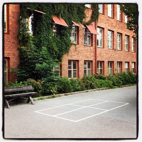 Klaras klassrum längst ned