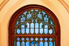 Tiffany Window in Eave