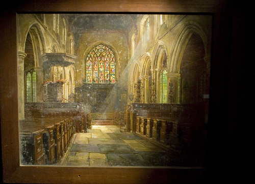 Painting of medieval church