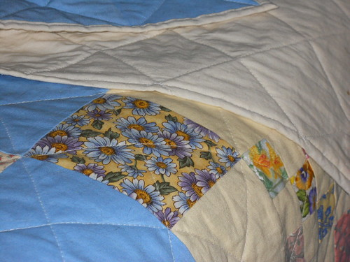 quilt with backing and binding showing