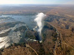 Zambezi River and Victoria Falls from above