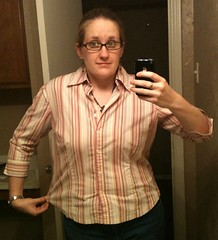 Button-Down Tee Refashion - Before