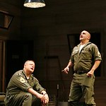 Seasoned Sergeants Cokes (Larry Clarke, l.) and Rooney (John Sharian), sing