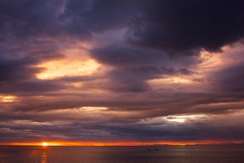 sunset nature landscape iceland raw snæfellsjökull snæfellsnes akranes faxafloi krókalón