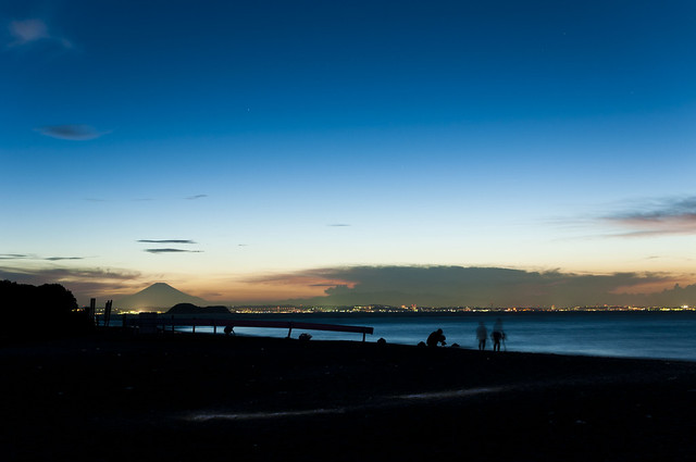 富津岬の夕景