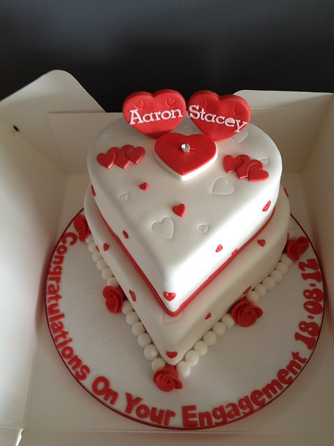Love Heart Cake Images : Love Heart Engagement Cake Flickr - Photo Sharing!