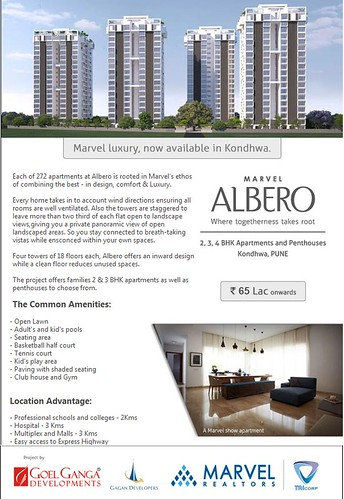 Marvel Albero - 2, 3, 4 BHK apartments and Penthouses, Kondhwa, Pune by Marvel Realtors by jungle_concrete