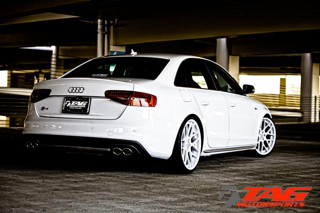 "Audi S4 on 20"" Glacier White MS70 | 20x9.5"" MultiF ..."