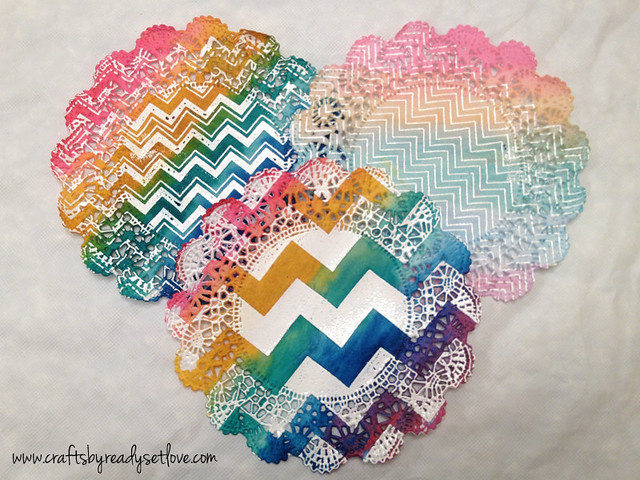 Chevron Watercolor Doilies