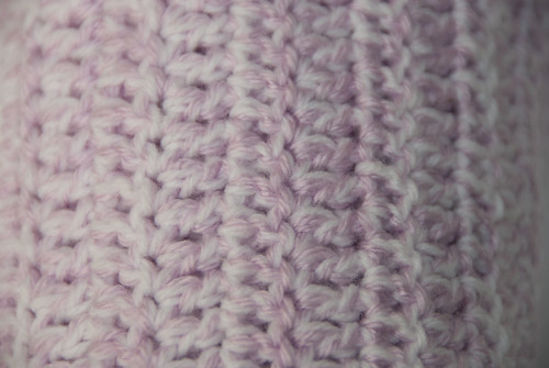 Baby blanket close up