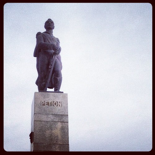 Petion statue in Port-au-Prince. Hoping to get underway with surgery tomorrow.