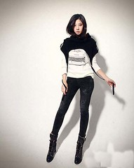 textile, model, footwear, clothing, abdomen, trousers, leggings, leather, outerwear, limb, leg, fashion, photo shoot, thigh, black,