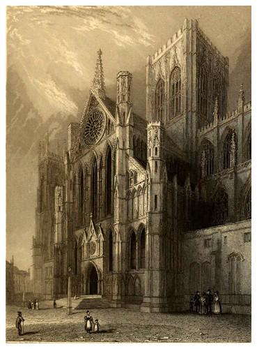 005-Catedral de York transepto sur-Winkles's architectural and picturesque illustrations of the catedral..1836-Benjamin Winkles