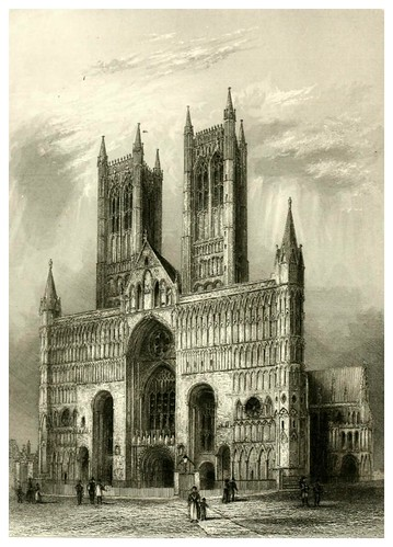 012-Catedral de Lincoln-Winkles's architectural and picturesque illustrations of the catedral..1836-Benjamin Winkles