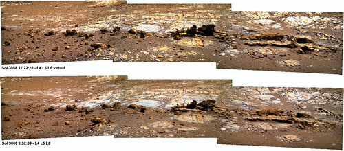 "OPPORTUNITY sol 3058 and 3060 pancam - ""sol after sol..."""
