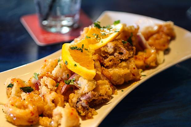Fried Calamari, Blu Que Island Grill, Siesta Key, Sarasota, FL