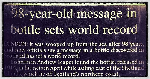 98 year old message in a bottle