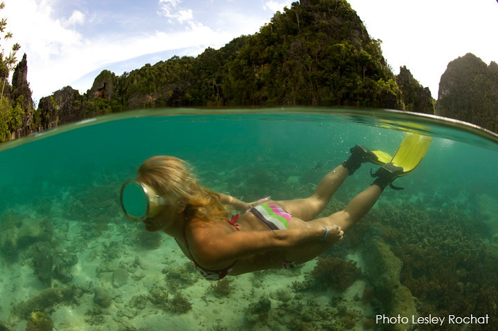 copyright-Lesley-Rochat Radja Ampat and snorkeling