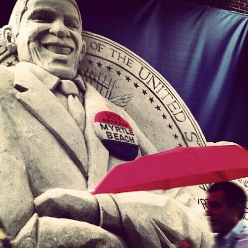 Sand sculpture Obama