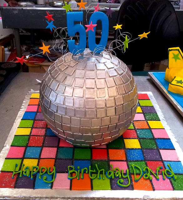 3d Disco Ball Shaped Wicked Chocolate Cake Decorated With