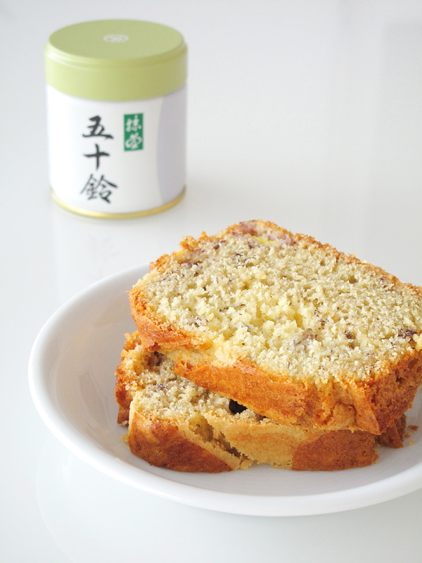 Cake alla banana e tè matcha