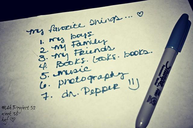 week 36-Favorite things