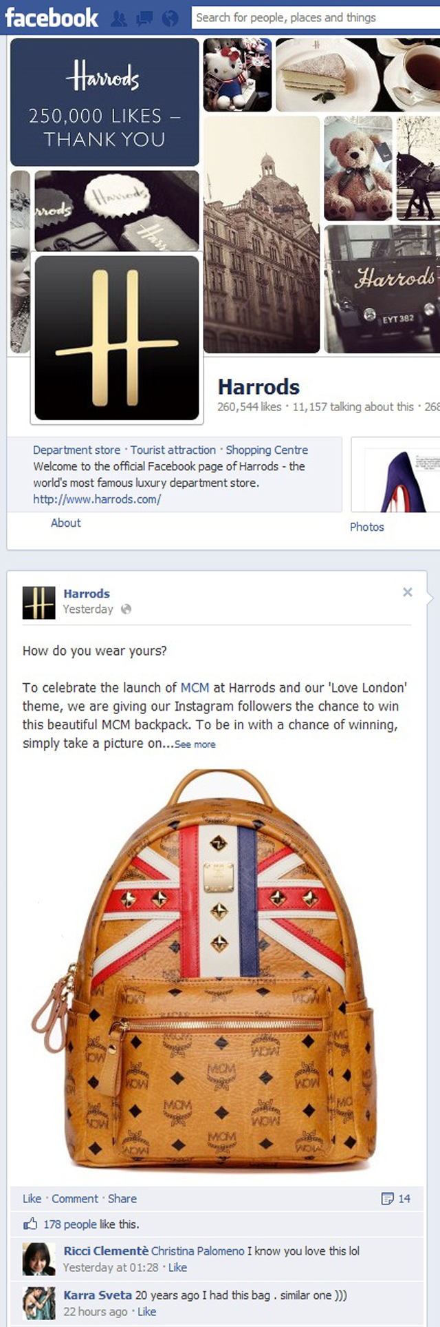 FacebookHarrodsContest