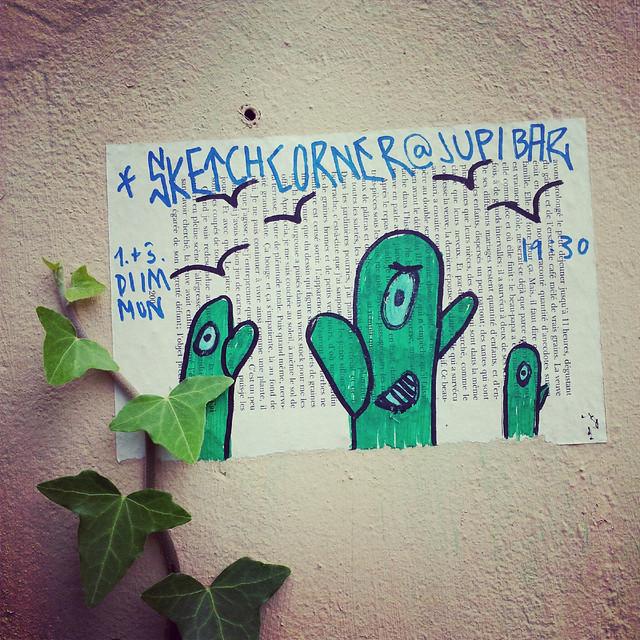 sketch corner street art