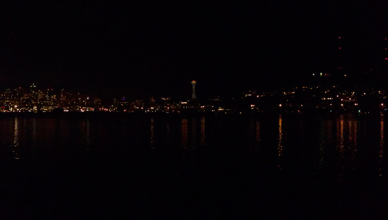gas works park at night