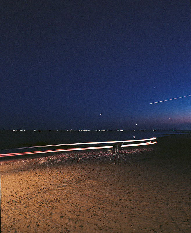 light trails and shooting stars