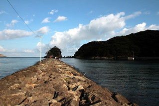 Go to the tip of land at Yumigahama in Izu, Japan
