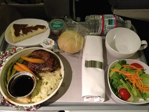 British Airways World Traveler Plus (Premium Economy) SFO to LHR Dinner