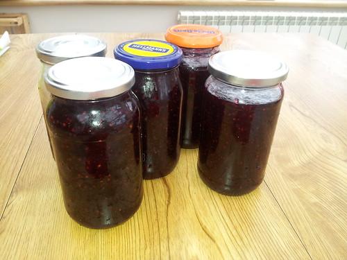 Wild blackberry and habanero jams