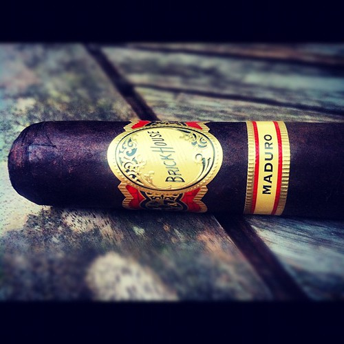 Smoking a Brick House Maduro by @jcnewmancigars