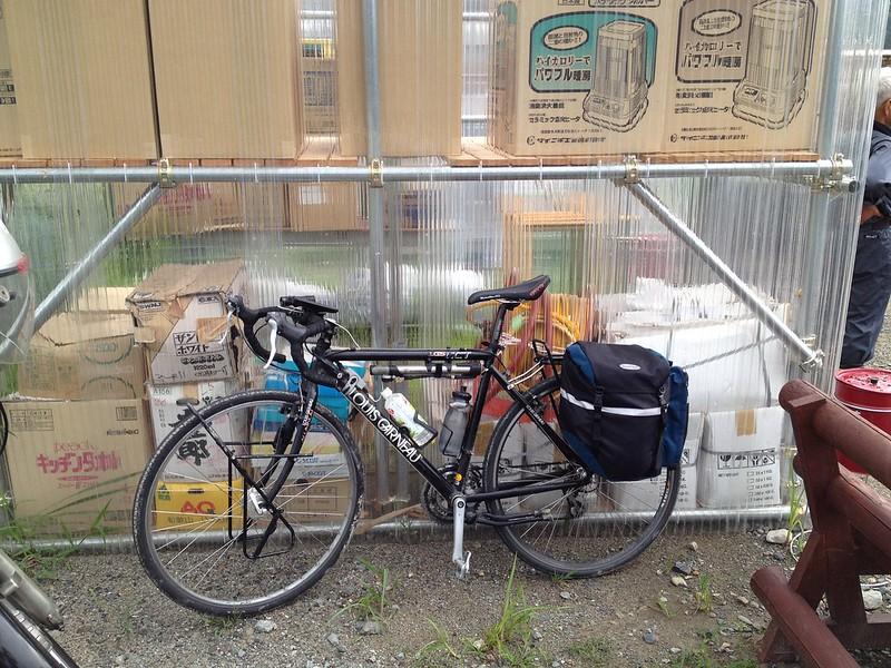 自転車でボランティアセンターへ