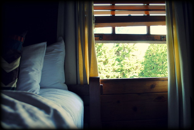 Inside a Guestroom at Timberline Lodge