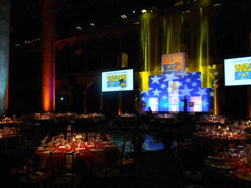 Sneaker Ball 2012 9th annual gala and dinner at the National Building Museum benefiting GWSA