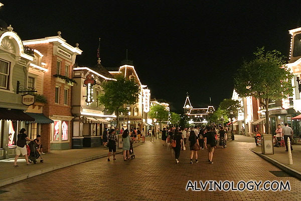 Hong Kong Disneyland by night