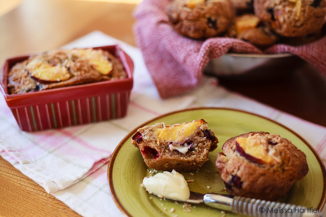 Peach Blueberry Muffins and Mini Loaf